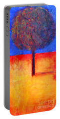 The Lonely Tree In Autumn Portable Battery Charger