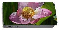 Portable Battery Charger featuring the photograph The Lotus by Vivian Christopher