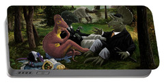 The Luncheon On The Grass With Dinosaurs Portable Battery Charger