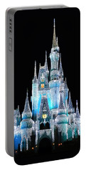 The Magic Kingdom Castle In Frosty Light Blue Walt Disney World Portable Battery Charger