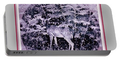 Portable Battery Charger featuring the photograph The Magic Of Christmastime In A Woodland II by Kimberlee Baxter