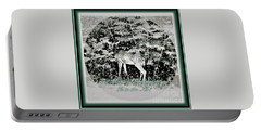 Portable Battery Charger featuring the photograph The Magic Of Christmastime In A Woodland by Kimberlee Baxter