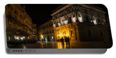 Portable Battery Charger featuring the photograph The Magical Duomo Square In Ortygia Syracuse Sicily by Georgia Mizuleva