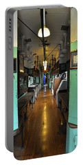 Portable Battery Charger featuring the photograph The Mail Car From The Series View Of An Old Railroad by Verana Stark