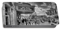 Portable Battery Charger featuring the photograph The Main Street Cinema by Howard Salmon