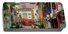 Portable Battery Charger featuring the photograph The Majestic Theater Chinatown Singapore by Imran Ahmed