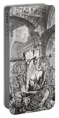 The Man On The Rack Plate II From Carceri D'invenzione Portable Battery Charger by Giovanni Battista Piranesi