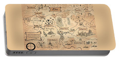 Portable Battery Charger featuring the painting The Map Of Kira by Reynold Jay