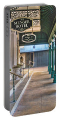 The Menger Hotel In San Antonio Portable Battery Charger by David and Carol Kelly