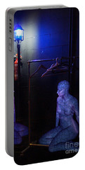 Portable Battery Charger featuring the digital art The Mermaids Dresser by Rosa Cobos