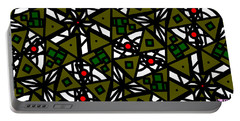 Portable Battery Charger featuring the digital art The Mess Behind It by Elizabeth McTaggart