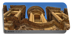 Portable Battery Charger featuring the photograph The Monastery In Petra by David Gleeson