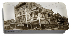 The Monterey Hotel 1904 The Goldstine Block Building 1906 Photo  Portable Battery Charger