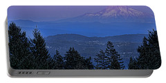 The Moon Beside Mt. Hood Portable Battery Charger