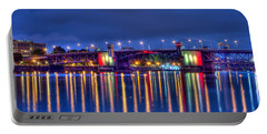 Portable Battery Charger featuring the photograph Morrison Bridge - Pdx  by Thom Zehrfeld