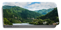 The Mountain Valley Of Rishikesh Portable Battery Charger
