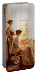 The Music Lesson, C.1890 Portable Battery Charger by American School