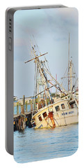 The New Hope Sunken Ship - Ocean City Maryland Portable Battery Charger