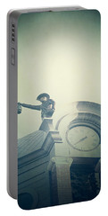 Portable Battery Charger featuring the photograph The Night Watchman by Trish Mistric
