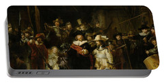 The Nightwatch, 1642 Oil On Canvas Portable Battery Charger