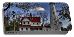 Portable Battery Charger featuring the photograph The Northpoint Lighthouse by Deborah Klubertanz