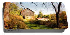 Portable Battery Charger featuring the photograph The Old Barn by Trina  Ansel