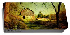 Portable Battery Charger featuring the photograph The Old Barn With Texture by Trina  Ansel