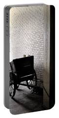 Portable Battery Charger featuring the photograph The Old Cart From The Series View Of An Old Railroad by Verana Stark