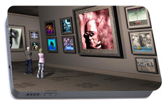 Portable Battery Charger featuring the digital art The Old Museum by John Alexander
