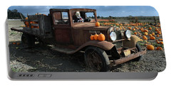 Portable Battery Charger featuring the photograph The Old Pumpkin Patch by Michael Gordon