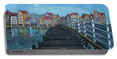 The Old Queen Emma Bridge In Curacao Portable Battery Charger