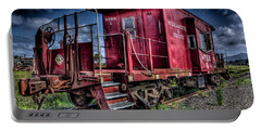 Portable Battery Charger featuring the photograph Old Red Caboose by Thom Zehrfeld