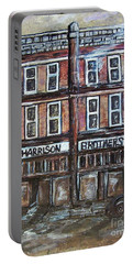 Portable Battery Charger featuring the painting The Old Store by Eloise Schneider
