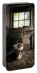The Old Thinking Room - Abandoned Restroom And Toilet Portable Battery Charger