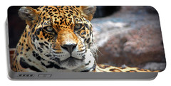 The Ole Leopard Don't Change His Spots Portable Battery Charger by Lynn Sprowl