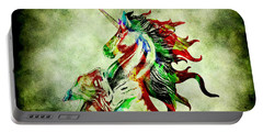 Portable Battery Charger featuring the photograph The One Horned Beast by Gary Keesler