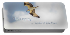 Portable Battery Charger featuring the photograph The Osprey by DigiArt Diaries by Vicky B Fuller