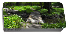 The Painted Forest From The Series The Imprint Of Man In Nature Portable Battery Charger
