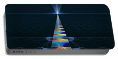 Portable Battery Charger featuring the digital art The Path Ahead by GJ Blackman