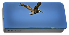 Portable Battery Charger featuring the photograph The Pelican And The Sea by DigiArt Diaries by Vicky B Fuller