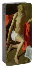 The Penitent St Jerome  Portable Battery Charger by Georges de la Tour