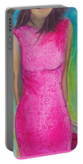 The Pink Dress Portable Battery Charger