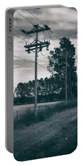 Portable Battery Charger featuring the photograph The Power Lines  by Howard Salmon