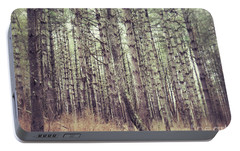 Portable Battery Charger featuring the photograph The Preaching Of The Pines by Kerri Farley