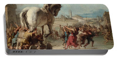 The Procession Of The Trojan Horse Into Troy Portable Battery Charger