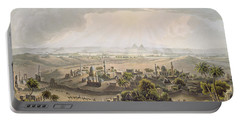 The Pyramids At Cairo, Engraved Portable Battery Charger