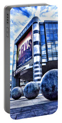 Portable Battery Charger featuring the photograph The Q - Home Of The 2016 Nba Champion Cleveland Cavaliers - 1 by Mark Madere