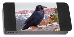Portable Battery Charger featuring the photograph The Raven by Rona Black