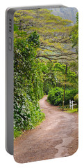 The Road Less Traveled Portable Battery Charger by Denise Bird