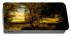 Portable Battery Charger featuring the photograph The Road To Litlington by Chris Lord